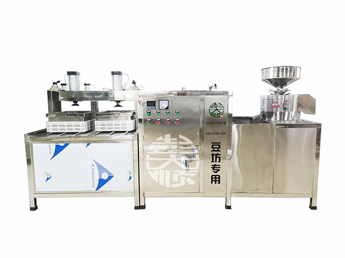 全自动豆腐流水线设备,节省人工助生产